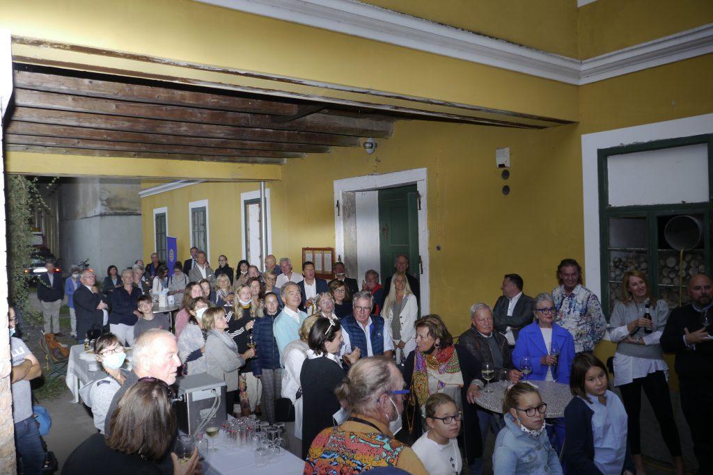 Foto Blick ins Publikum. Fotografija obiskovalcev.