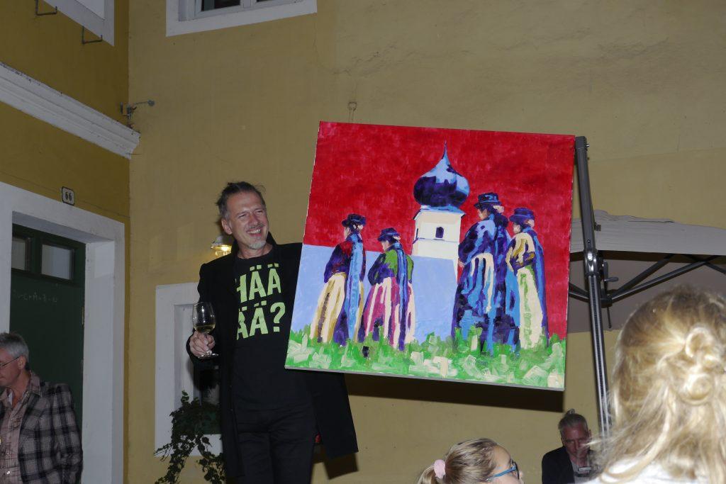 """Versteigerung Bild Johann Kogelnig """"Kirchgang"""". Dražbena slika Johanna Kogelniga """"Gremo v cerkev""""."""